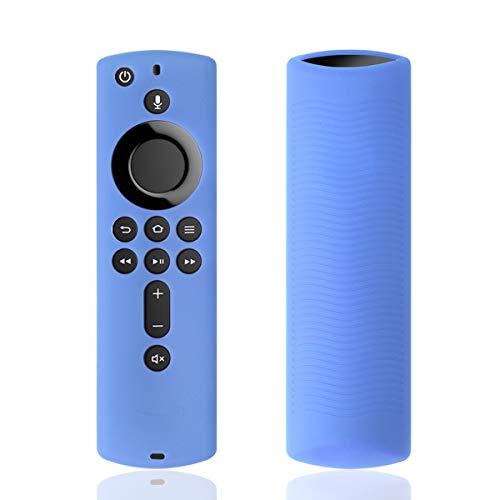Silikon-Schutzhülle für TV Firestick 4K / TV (3. Generation), kompatibel mit Fernbedienung der 2. Generation Glowblue