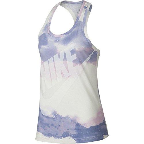 Nike Canotta Sportswear Futura Wash Beige/Viola/Bianco Formato: XS (X-Small)