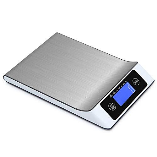 Haushalts Edelstahl Küchenwaage 15 kg Post Paketwaage Unterstützung OEM elektronische Waage Plattformwaage 5 kg weiß 10 kg / 1 g