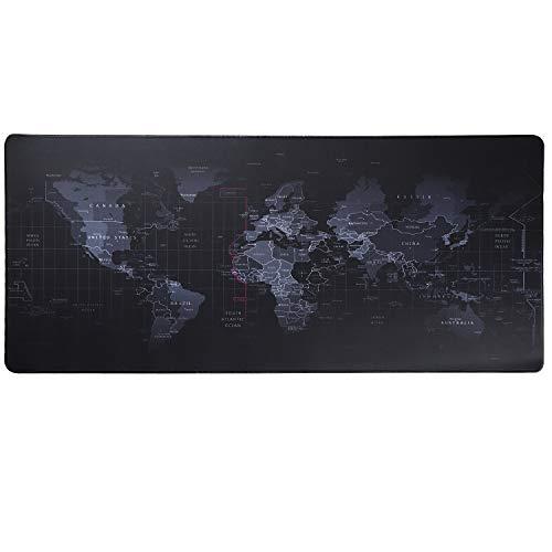 HoYiXi Gaming Alfombrilla de Ratón Mouse Pad Desk Pad Extra Grande Superficie Lisa y Base de Goma Antideslizante Mouse Mat XXL (90 x 40 x 0.3 CM) - el Mapa