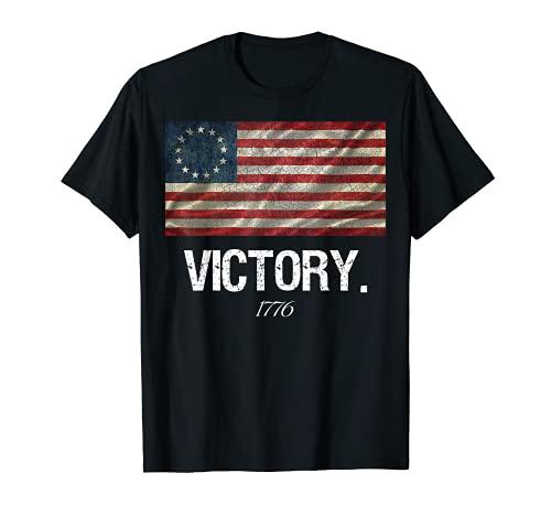 Betsy Ross Bandiera Camicia Rivoluzione Vittoria 1776 Maglietta