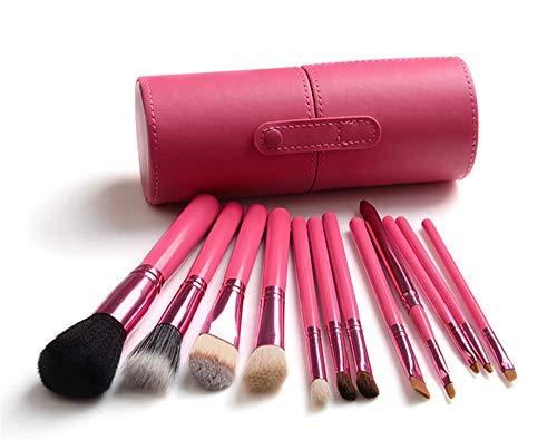 Pinceau de maquillage ensemble 12 brosse complète seau outils de maquillage pinceau pinceau de maquillage ombre animal, rose rouge