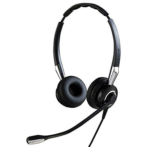 Jabra Biz 2400 II Duo USB langlebiges Profi-Kabel-Headset, Bedieneinheit mit Bluetooth-Chip, Skype for Business optimiert, Noise-Cancelling