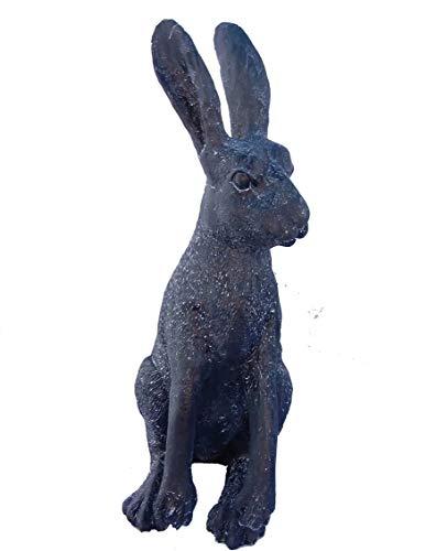 Effet bronze Lièvre résistant aux intempéries Ornement/Statue de jardin en résine – Livraison Gratuite