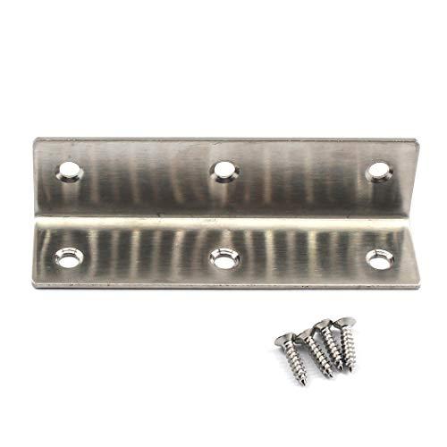 Winkelverbinder, Eckwinkel, 304 Edelstahl, L-Form, für Holzregale, 100 x 25 x 25 mm, 6 Stück