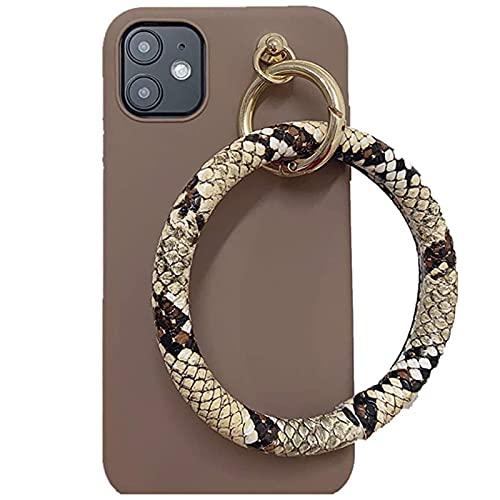 NZAUA Carcasa de teléfono móvil de la cartelera con Forma de Serpiente de la Caja de Serpiente, Adecuada para iPhone11pro, Prueba de Golpes, a Prueba de Golpes y de Silico iPhone7
