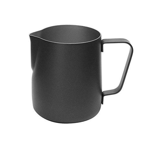 Générique 350ml Veere à d'eau Épais INOX Moussage à Café en Acier Latte Art De Pot à Lait Pichet - Noir