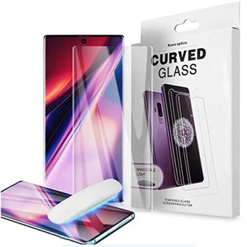 Pelicula Galaxy Note 10 Plus + Curva Vidro Temperado Cola Liquida Luz UV