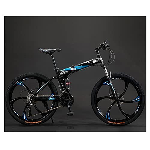 ROYWY Bicicleta Plegable Urbana, Bicicleta De Montaña para Niña, Niño, Hombre Y Mujer, 24 26 Pulgadas Bike Sport Adventure, Bicicleta De Carretera -B/A / 24inch