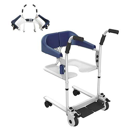 YXP Multifunktionslift mit Toilettensitzkissen Pflegestuhl Badepatient Senioren Transferrollstuhl für die häusliche Krankenpflege