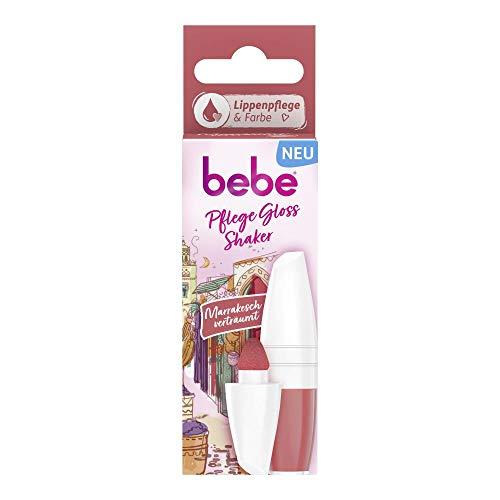 bebe Pflege Gloss Shaker Marrakesch verträumt Lippenpflege, Lippenpflegestift mit einem warmen Korall-Ton für natürlich schöne und geschmeidige Lippen (1 x 5 ml)
