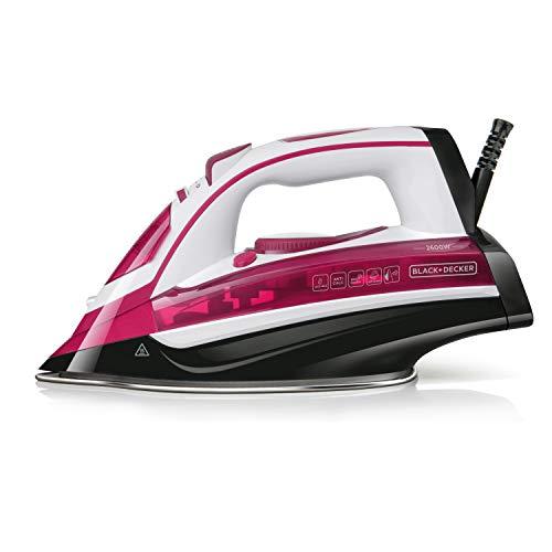 Black+Decker Pink BXIR2602E Dampfbügeleisen, 2600, Kunststoff, 370 milliliters