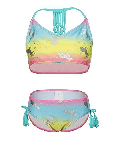 iDrawl Bikini Set Für Babay Mädchen Sommer Einhorn Bademode Tankini Größe M