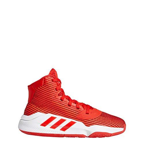 Adidas Pro Bounce 2019 J, Zapatillas de Baloncesto Unisex niño, Multicolor (Rojact/Ftwbla/Buruni 000), 35.5 EU