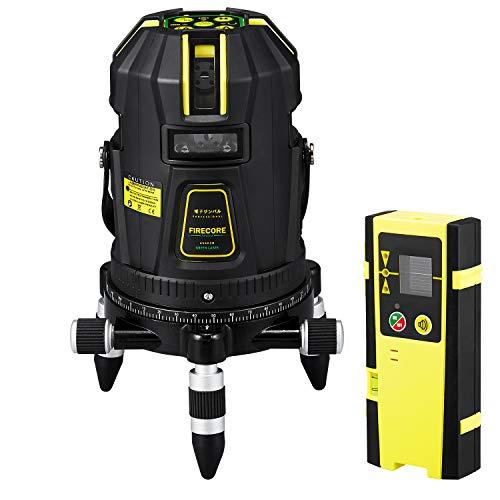 【改良版】Firecore フルライン グリーンレーザー墨出し器 FIR-GL8-EA【電子ジンバル機構搭載8ラインレーザーレベル】【最先端技術を駆使した墨だし器】【受光器セット】