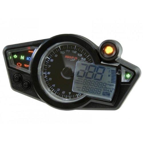 Tacho KOSO Digital Cockpit RX1N, Display schwarz, weiß beleuchtet