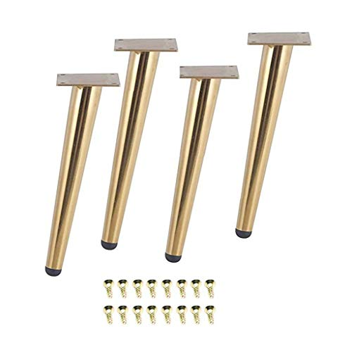 Lingling 4 Teile/Satz 15/20 / 25/30 cm Möbeltisch Beine, Metall-Kegel-Sofa-Schrank Kabinett Couchbeine Füße Hocker Stuhl-Beinfüße (Color : 195mm)