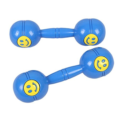 2 Paar Fitnessgeräte Plastik Spielzeug Hantel Kinder Hantel Kinder, Lächeln Gesicht