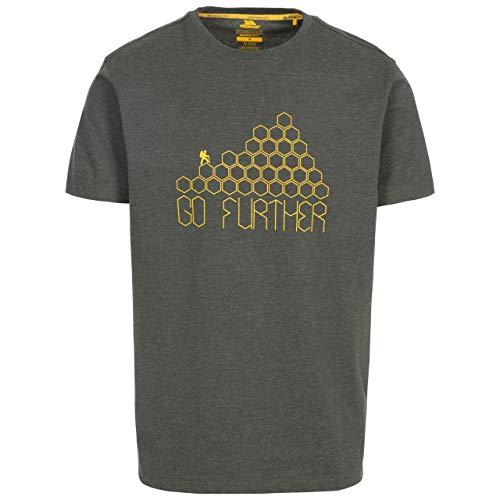 Trespass Buzzinley T-Shirt à séchage Rapide pour Homme XXL Vert Olive chiné