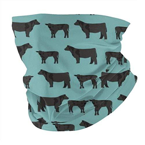 Black Angus Ganado Vaca Verano BandaFace Cover - Pasamontañas Bufanda Polvo Sol Protección UV Pesca Cuello Polaina - Para Hombre Y Mujer