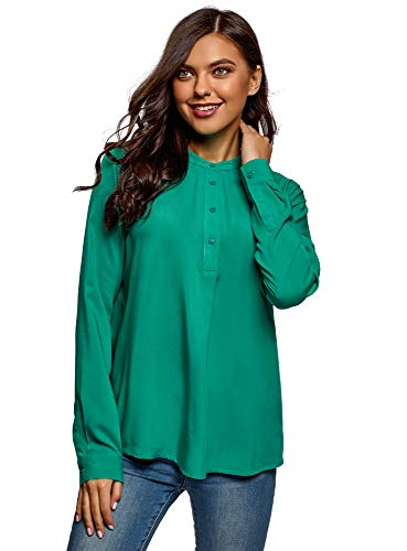 Oodji Collection Mujer Blusa Viscosa Silueta