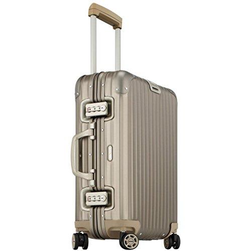 Rimowa Topas Titanium IATA Koffer, 53,3 cm (21 Zoll), Multirad, 32,0 l, Bronze hell