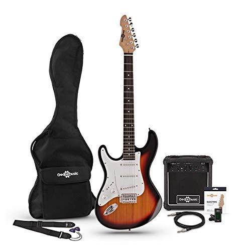 Set de Guitarra Eléctrica LA Zurda + Amplificador Sunburst