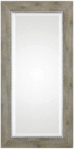 2021 Uttermost 09328 popular Sheyenne Rustic Rectangular Wood Framed Wall sale Mirror online sale