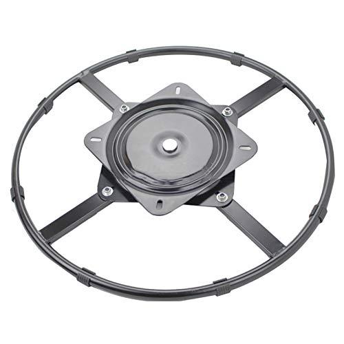 Tålig skivspelare lager, 360 ° roterande stålkullager ställ, metall lat Susan bas, tyst vridplatta, för fåtölj/TV-stativ