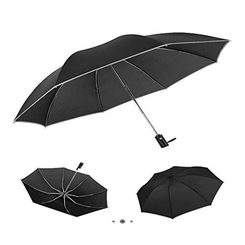 Sonnenschirm Regenschirm Streifenmuster Reverse Umbrella Folding Rainy Automatische Regenschirme Für Frauen Männer Uv Stripe Outdoor Umbrella Black