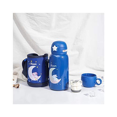 550 Ml Cartoon Tier Edelstahl Trinkwasserflasche Thermoskanne Tasse Mit Deckel Strohsack Für Kinder Reisen Nach Hause Schule