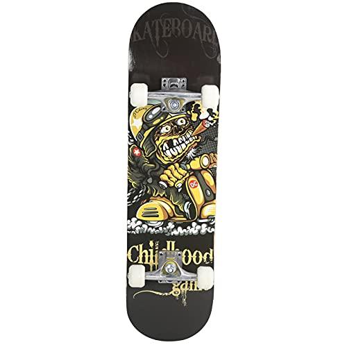 Estink Maple Skateboard, 7 Layer Double Concave Skateboard Skateboard für Anfänger, No Noise und schnelle Rotation, Geschenk für Jungen