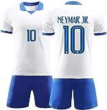Něymēr 10# - Camiseta de fútbol para hombre, absorbe el sudor y transpirable, talla L-4XL para adulto (color: blanco, talla: XXXL)