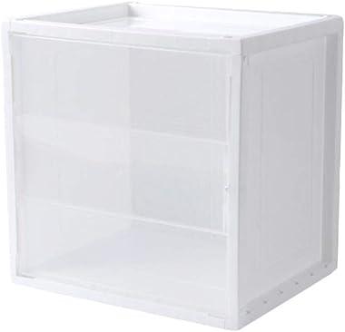 TOPBATHY Estantería organizadora de estanterías de almacenamiento de plástico, estantería de libros, estantería de bricolaje,