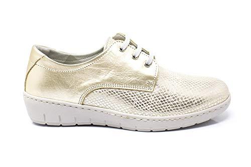 Zapato Blucher Piel Muy cómodo para Mujer - Notton 2958 (Numeric_37)