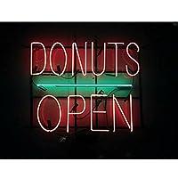ネオンサイン ネオン 看板 NEON SIGN ネオン管 (Donuts Open ドーナツ) Open Beer love Bar Sushi Music レストラン いざかや 店舗装飾 料理 ウォールデコ 壁掛け カフェ 喫茶店 居酒屋煉 広告用看板 クラブ及び娯楽場所等 アメリカン雑貨 インテリア