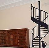 Qliyt Escalera De Caracol Diy Vinilo Pegatinas De Pared Sala De Estar Dormitorio Sala De Niños Decorativos Del Hogar Arte Mural Papel Tapiz 59X120 Cm