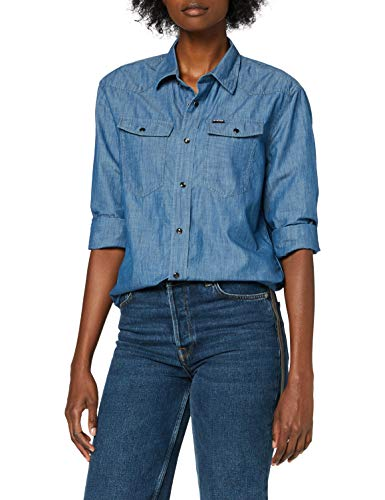 G-STAR RAW Womens 3301 Relaxed Shirt, lt Building C292-8166, Large