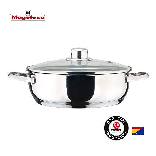 MAGEFESA Dux – La Familia de Productos MAGEFESA Dux está Fabricada en Acero Inoxidable 18/10, Compatible con Todo Tipo de Fuego. Fácil Limpieza y Apta lavavajillas. (TARTERA, 26_cm)