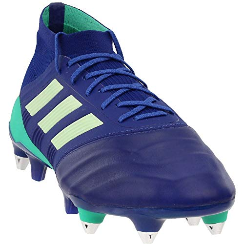 adidas Mens Predator 18.1 Soft Ground Leather Soccer Casual Cleats, Navy, 7