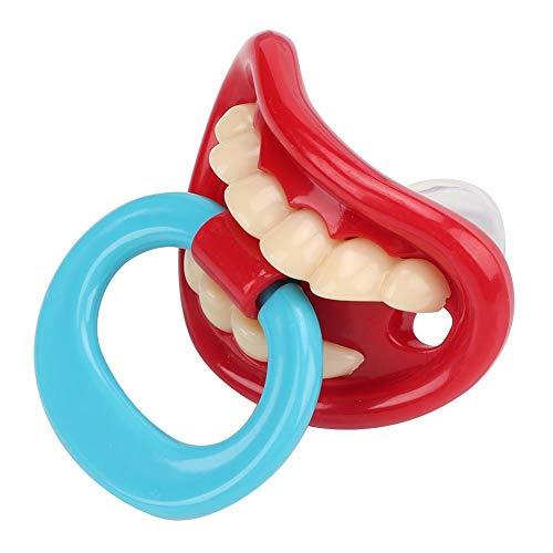 Baby Schnuller, Weiche Silikon Schnuller Schnuller Spaß Nippel Schnuller Lustige Mund Beißring Baby Spielzeug Badespielzeug für gestillte Babys(#1)