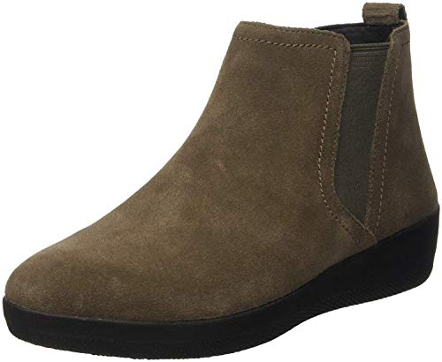 FitFlop Womens Superchelsea Pull On Suede Boot Shoes, Bungee Cord, US 7
