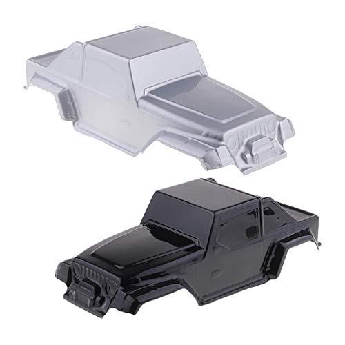 SM SunniMix 2pcs Carrosserie Coque de Camion pour 1/10 RC Voiture Modèles Wrangler Axial CC01
