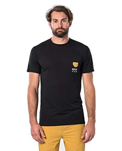 Rip Curl Ramen VPC Homme,T-Shirt,Tee-Shirt Manches Courtes,Manches Courtes,Encolure Ronde,Logo,Black,L