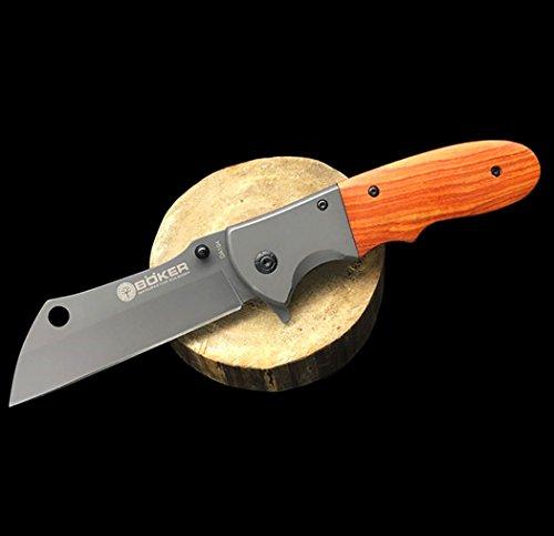 KNIFE SHOP Al Aire Libre Cuchillo Supervivencia Salvaje Cuchillo Herramienta portátil de...