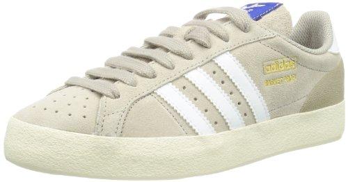 adidas Originals Basket Profi Lo, Sneaker a Collo Basso Uomo, Argento (Run White/Ecru), 46 EU