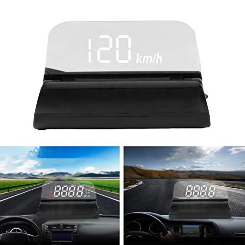Head Up Display Auto OBD2-Schnittstelle, 3,5 Zoll Bildschirm Auto HUD Anzeigegeschwindigkeit KM/MPH, Wassertemperatur, Spannung, Motordrehzahl, Sicherheitsalarme