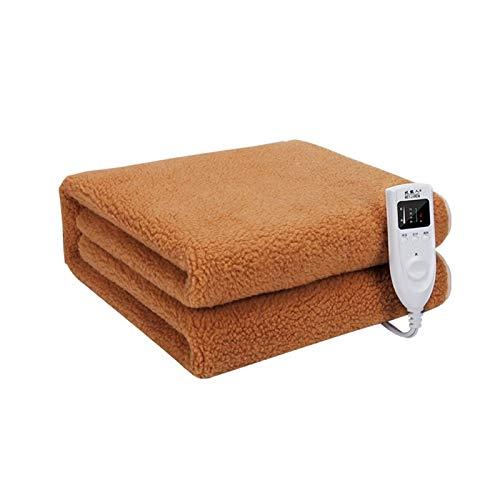 Temporizador inteligente Manta con calefacción eléctrica Doble individual Ultra suave Manta eléctrica con calefacción de vellón Calentamiento rápido Funda de colchón climatizada Uso de oficina en casa