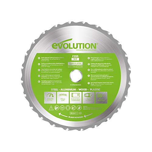 Evolution Power Tools FURYBLADE255MULTI - Hoja de Sierra Multiuso con Punta de...