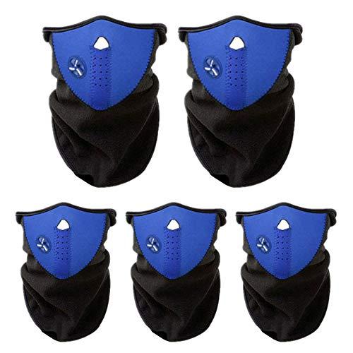 XQxiqi689sy Lot de 5 cagoules de protection contre le vent et la poussière, bleu